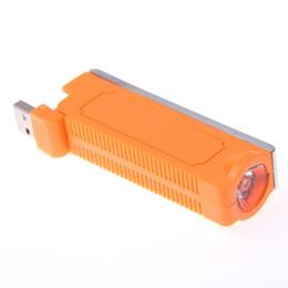 Canada 1 Pcs Nouveauté Électronique Tabac Allume-cigare LED Lampe de Poche USB Interface De Charge Portable Cigarette voiture Accessoires Fumeur Offre