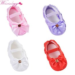 Wholesale Todder Boys - NEW Baby Shoes Girl Todder Pre-walker Shoes Rose Flowers Bow Princess Newborn Baby Soft Sole First Walkers