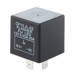 Wholesale Car Relays Signal - Electronic Car Flasher Relay to Fix LED Light Hyper Flash Fast Signal 3 Pin