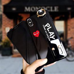 Custodia stilista di marca con cinturino per iPhone XS MAX XR X XS 7P 8P 7 8 6P 6SP 6 6S Rosso nero Custodie per amore supplier love wristbands da braccialetti d'amore fornitori