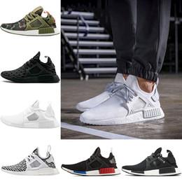 zebra football Canada - 2018 Mens XR1 Running shoes OG Mastermind Japan Triple Black White Zebra Olive Camo Breath Women Primeknit Run Sport Sneakers US Size 5-11