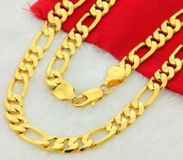 Wholesale 24k Pure Gold Necklaces - whole saleNew Sale 24K Pure gold color necklaces 4 6 8 10 MM 20 22 24 26 28 30 inch chain for Men male chain