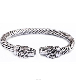 Myshape, mode, conception, plus récent, ancien double dragon endormi tête léopard style bohème cru bracelet animal bracelet ? partir de fabricateur