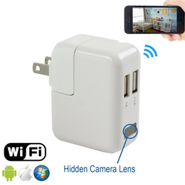 Wholesale Wireless Wall Charger - 1080P Wifi Spy Camera USB Power Adapter Wireless Surveillance Charger Hidden Camera Real Wall AC Plug Spy Camera EU US UK AU Plug