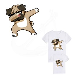 Wholesale Hot Dog Sweater - Hot Pop cartoon dog iron on patches 24*24cm Diy child T-shirt Dresses Sweater thermal transfer Patch for clothing