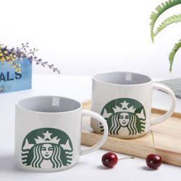 Wholesale Ceramic Coffee Mug Sets - Lot2pcs Set Starbucks Coffee Mug Barrel Shape Ceramic Tea Cups Fruit Juice Drinkware With Various Color With Package Random Pick
