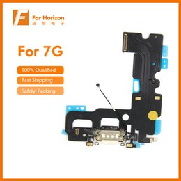 "iphone microphone replacement 2018 - USB Charging Port Dock Connector Flex Cable + Microphone + Headphone Audio Jack Replacement Part for iphone 7 4.7"" & Free e-Packet Shiping"