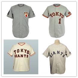 Wholesale Giant Xxl - Custom XS-6XL Tokyo Kyojin (Giants) beige grey Baseball Jersey Replica Stitch Sewn Any Name Or Name Free Shipping