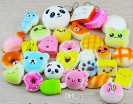 Squishy Slow Rising 10 20 30 pcs Unrepeated Kawaii Squishies Mini Soft Foods Pain Panda Multi Donuts Téléphone Sangles Charme Enfants Jouet Cadeau ? partir de fabricateur