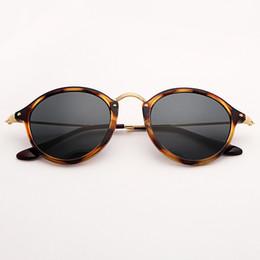 Argentina Bolo.ban 2447 gafas de sol de lente redonda gafas de sol de 49 mm espejo de tortuga gafas de sol gafas de sol Gafas UV400 cheap tortoise round sunglasses Suministro