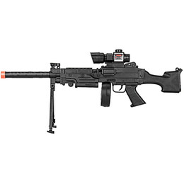 Wholesale Tactical Gun Laser - 300 FPS AIRSOFT SPRING TACTICAL RIFLE GUN LASER SCOPE BIPOD w  6mm BB BBs