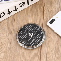 Wholesale Custom Cellphone - 1Pcs Sale QI Wireless Phone Charger Charging Adapter Dock Station For Android Cellphone Black New Arrival Free Shipping ZA469401