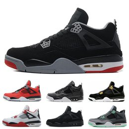 Wholesale Money Cool - 2018 Air Retro 4 Basketball Shoes Man Retro 4s Pure Money Bred Fire Red White Cement Royalty Thunder Kaws Cool Grey Sneakers us8-13