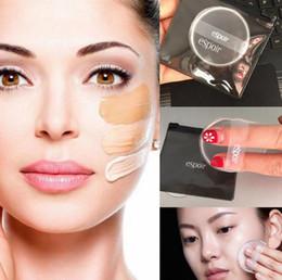 2019 maquillaje de silicona Espoir Silicona Puffs Glass Transparente No Eat Powder Face Flutter Air Cushion Makeup Cosmetic Powder Puff OOA4886 maquillaje de silicona baratos