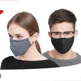 Maschere in puro cotone PM2.5 Carbone attivo Orso carino Respiratore unisex Mezza maschera antisettica Anti Haze Outdoor 3 5th V da maschera per freddo fornitori