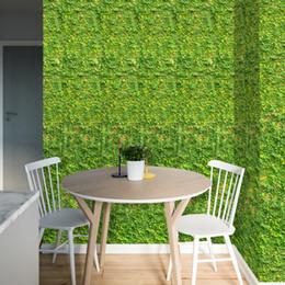 2019 piante paesaggio progettazione Green Leaves Wall Stickers Fiori Erba Piante da giardino Paesaggio Prato Home Decor 3D Art Wall Sticker piante paesaggio progettazione economici