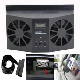ventilaciones de refrigeración para automóviles Rebajas Nueva llegada Solar Powered Car Window Air Ventilador Ventilador Mini Aire Acondicionado Cool Fan NUEVO BK au3