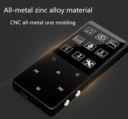 Wholesale Mp3 Mp4 Player 4gb - 1.8 Inch Metal MP3 Player with Bluetooth Touch Button Portabel lossless Music Player, MP4 With with FM Radio for Walking Running
