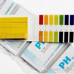 papel al por mayor del ph Rebajas Wholesale-HOT 20Pack / LOT 80 pH Meters PH Test tiras Indicador Tiras de Prueba 1-14 Paper Litmus Tester Urine Saliva