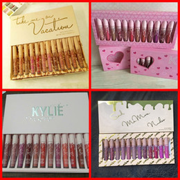 Wholesale Nude Lipgloss - HOTTEST Kylie Jenner Take Me On Vacation send me more nude 12 color Matte Liquid Lipsticks Kit kylie Cosmetics 12pcs Lipgloss Lip Gloss Set