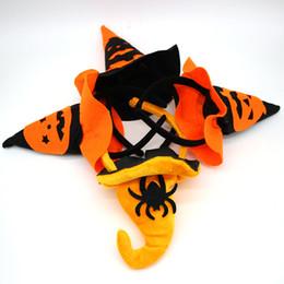 Wholesale Masquerade Hats - Halloween Children Pumpkin Headband Masquerade Witches Head Ring Spider Witch Hat Hair Bands