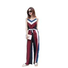 Été nouvelle version coréenne en mousseline de soie combinaison féminine 2018 pantalon large à jambes larges lâche Vintage Sling une pièce ? partir de fabricateur
