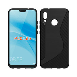 Wholesale Line Gel - CASEISHERE For Huawei P20 Lite Case Soft S Line Drawing Silicone TPU Gel Cover Skin For Huawei P20 Lite Phone Cases