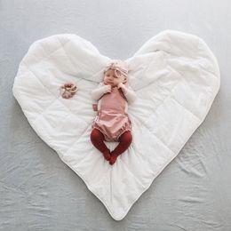 Wholesale Cartoon Blanket Cushion - Sweet Baby Play Mat Love Heart Rug White Carpet Portable Blanket Cartoon Rawling Game Mat Kids Toys Climb Pads Room Cushion