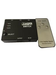 Canada Séparateur de commutateur HDMI 3 ports intelligent pour Xbox 360 PS3 Câble de télévision HDTV PS4 Adaptateur HD 1080P 3 en 1 avec télécommande IR Offre