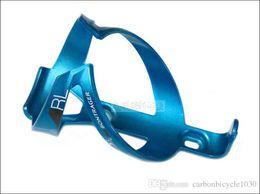 Gabbia di bottiglia blu di carbonio online-Portaborraccia RL blu per bici Portabatteria in fibra di carbonio adatta per MTB / portaborraccia per bicicletta da strada Portaborraccia da 38g ultra-leggera