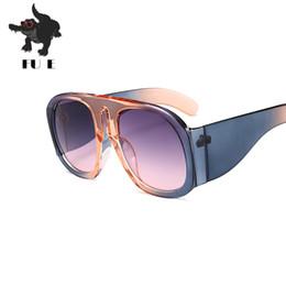 Wholesale Street Frame - FU E 2018 New paragraph large frame sunglasses fashion trend shoot street fashion men big hit color sunglasses UV400 1770
