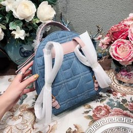 Wholesale Pink Rhinestone Purses - 2018 Luxury famous Brand designer Handbags backpacks backpack pearl Bag Bags quality 1:1 top Purse lady replica women wallet 180430002SPX