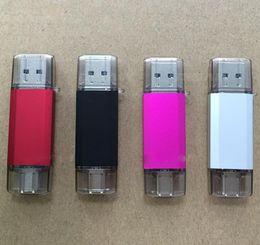 Wholesale USB OTG Dual Micro USB Flash Pen Thumb Drive Memory Stick para PC de teléfono gb gb Color negro gris rosa rojo u84