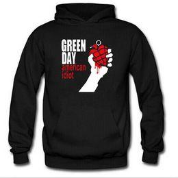 мужчины из панк-рока Скидка Осень зима с длинным рукавом флис толстовки мужчины Зеленый день печатных панк-рок хип-хоп мужчины пуловер Толстовки прохладный вентиляторы одежда