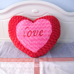 Wholesale Love Toys Couples - HaoKu Love large heart-shaped pillow cushion couple plush toy bed ornaments jewelry romantic wedding gift to send girls to the