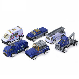 Wholesale Toy Models Cars Trucks - For Children Kids Funny Play Education Building Construction Toy Car Models Engineering Truck Set of 6 Vehicles