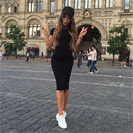 Canada Robes pour femme pas cher 18ss New fashions robes d'été à manches courtes robe moulante imprimée chat de poche Offre