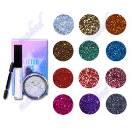 Wholesale Glitter Eye Designs - no logo glitter eyeshadow 3 in 1 set bottle mucus sponge stick case eye shadow special design for stage makeup cosmetics