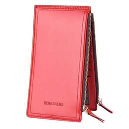 Wholesale Ladies Bags Models - Fashion ladies wallet 2018 hot business luxury wallet men and women models zipper wallet couple mobile phone bag