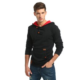 Wholesale mens hoddies - 2017 Winter Brand New Mens Contrast Color Hoddies Sweatshirt Male Mens Hooded Sweatshirt Hoodies Sweatshirts Sweatshirts