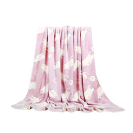 Wholesale Office Sofa Designs - Home Warm Flannel Adult Blanket Cat Design Travel Comforter For Children Sleeping Cover for Bed Sofa Office Car Cobertor R5