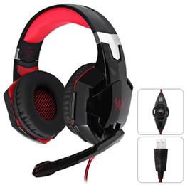 G2200 Oyun Kulaklık 7.1 Surround USB Titreşim Oyunu Kulaklık Kafa Kulaklık PC Gamer için Mic ile LED Işık ile nereden