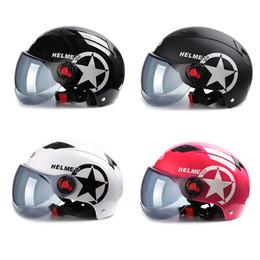 einstellbarer helm Rabatt Universal Motorrad Helme Einstellbare Größe Unisex Motorrad Helm Sonne UV Schutz Glas Einfach Tragen