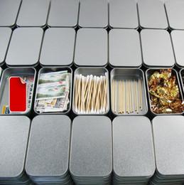 caja de la joyería de la lata Rebajas Envío gratis 10X Zakka Caja de lata de plata Caja de dulces Joyas Chicle Exfoliante Embalaje Embalaje Artículos de estaño