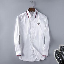 2019 casuais moda vestidos mangas 2019 camisa de mangas compridas homens de algodão de manga longa camisa de vestido de moda outono dos homens camisa casual Q8