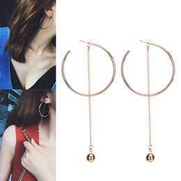 Wholesale Earing For Wholesale - whole sale2017 Stylish European Simple Style Big Round Circle Hoop Earrings for Women Geometric Stud Earing Brincos Gift