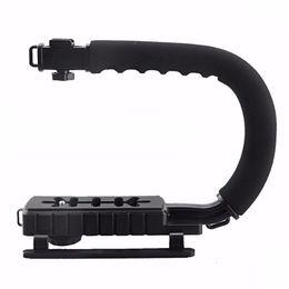 dslr video grip Desconto PRO CC-VH02 Forma C Flash Suporte Handle Camera Filmadora Estabilizador Estabilizador Handheld Grip para DSLR DV Video Preto