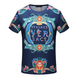 Wholesale Sequin Letters - g2018fashion italy luxury Brand tshirt designer embroidery medusa geometry flowers letter Men casual round neck women t-shirt shirts tee top