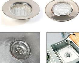 Pia de banheiro de aço inoxidável on-line-Rolha De Apanhador De Cabelo Banheira de Aço Inoxidável Furo De Drenagem Do Armadilha Do Filtro de Fio De Metal Fio Pia Filtro Coador de Cozinha Acessórios Do Banheiro