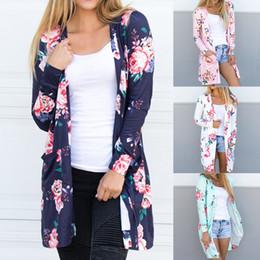 24f5e5efd 2018Explosion impressão cardigan no longo casaco feminino seção fina fora  do ar condicionado camisa verão xale casaco